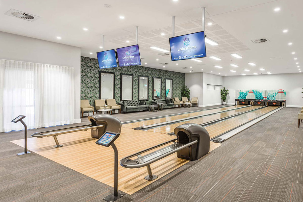 Living Gems bowling alley