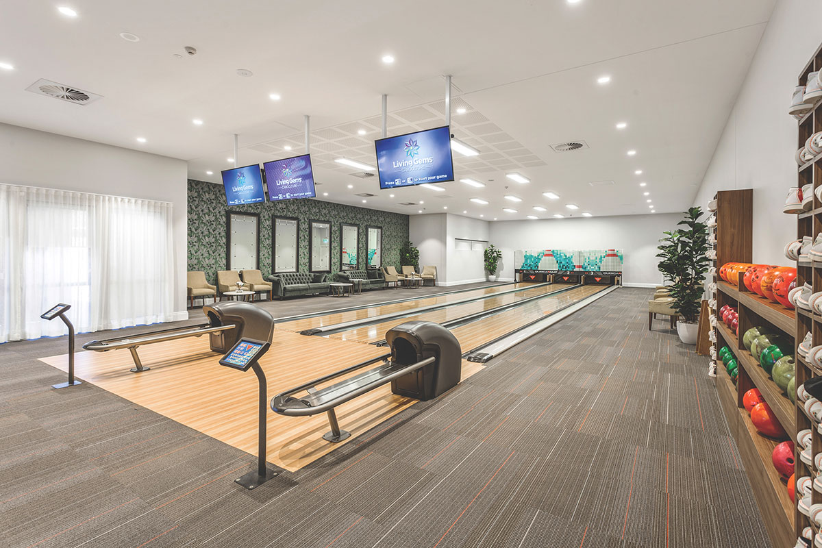 Living Gems Caboolture Riverfront country club bowling lanes