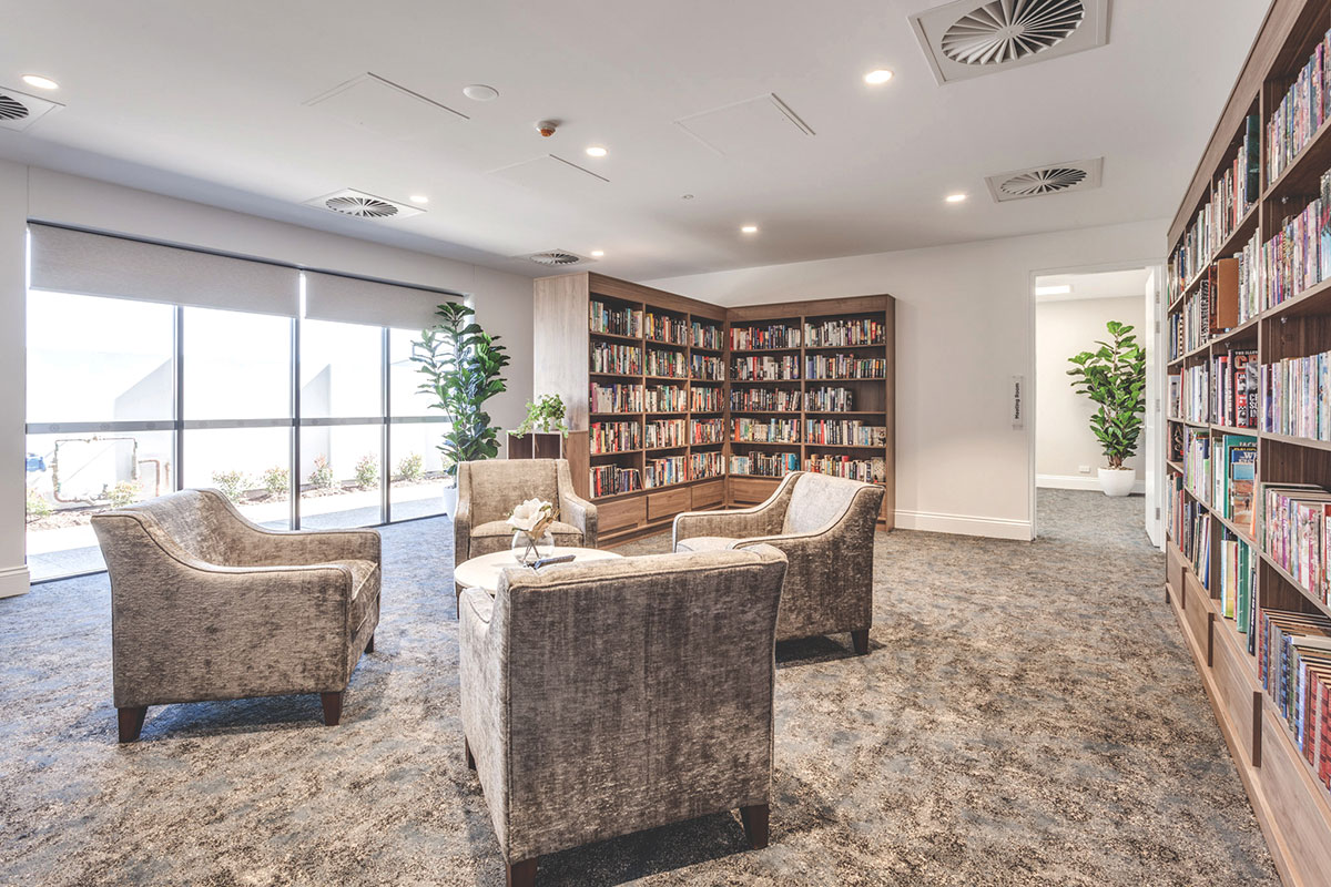 Living Gems Caboolture Riverfront country club library