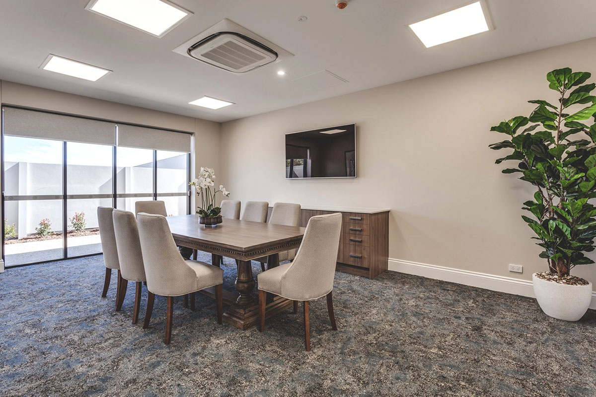 Living Gems Caboolture Riverfront country club meeting room