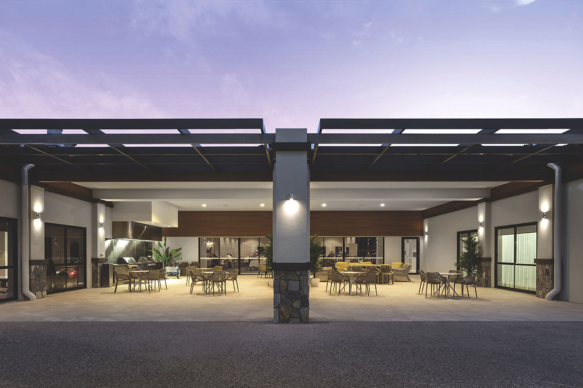 Living Gems Caboolture Riverfront country club bbq area