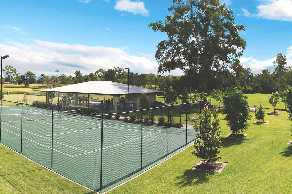 Opal by Living Gems country club tennis court