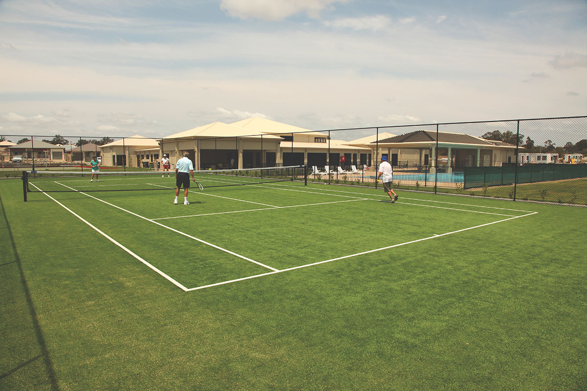 Ruby by Living Gems country club tennis court