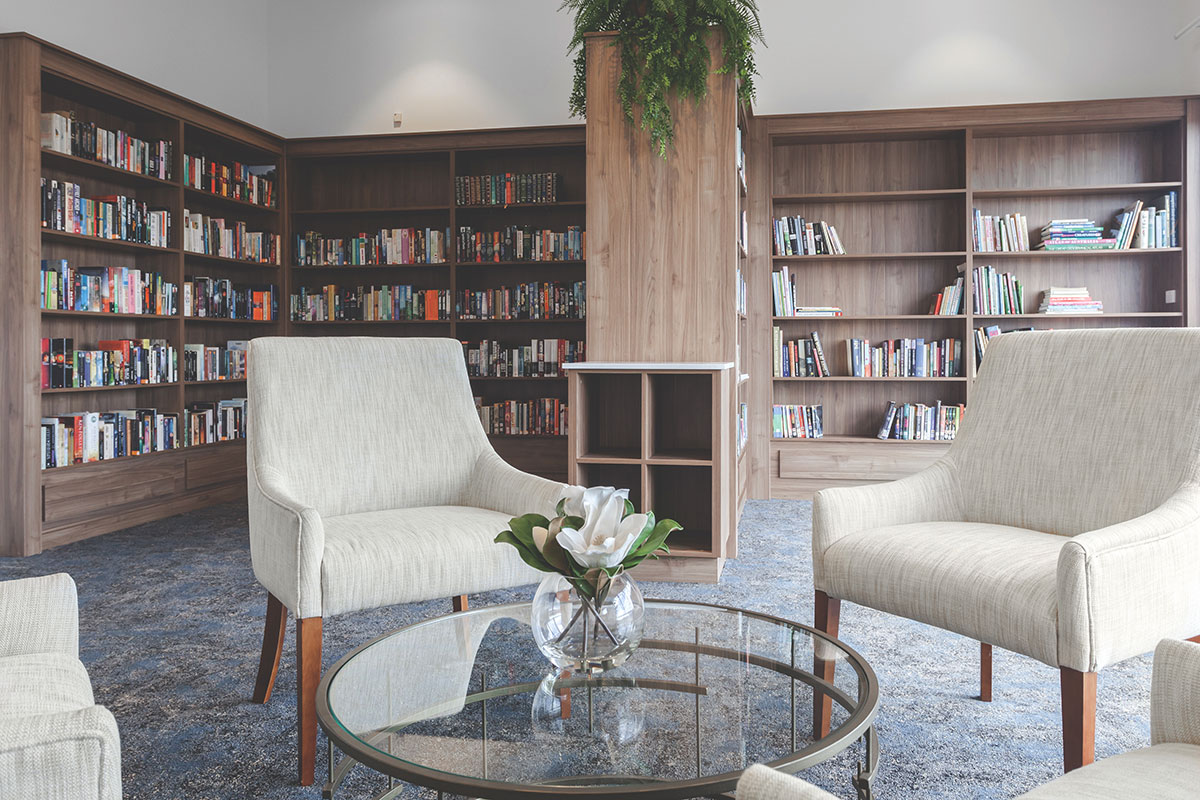 Living Gems Toowoomba country club library