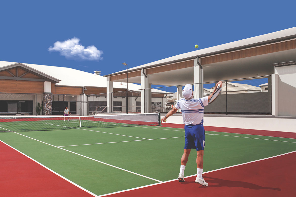 Living Gems Toowoomba country club tennis court